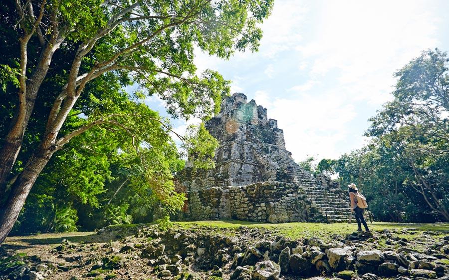 Muyil, Pyramide Maya Mexique