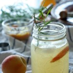 Roasted Peach and Rosemary Fizz Mocktail