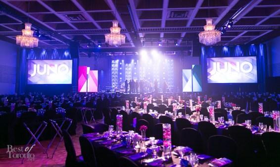 The setup of the JUNO Awards Gala