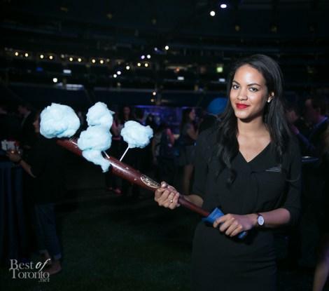 Cotton candy on a baseball bat