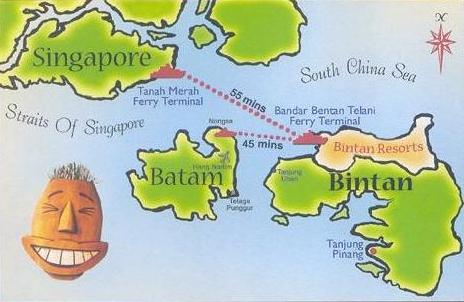 Lo que está en verde es el otro Bintan, allí donde todavía no ha llegado el turismo masivo, via Best Tourism