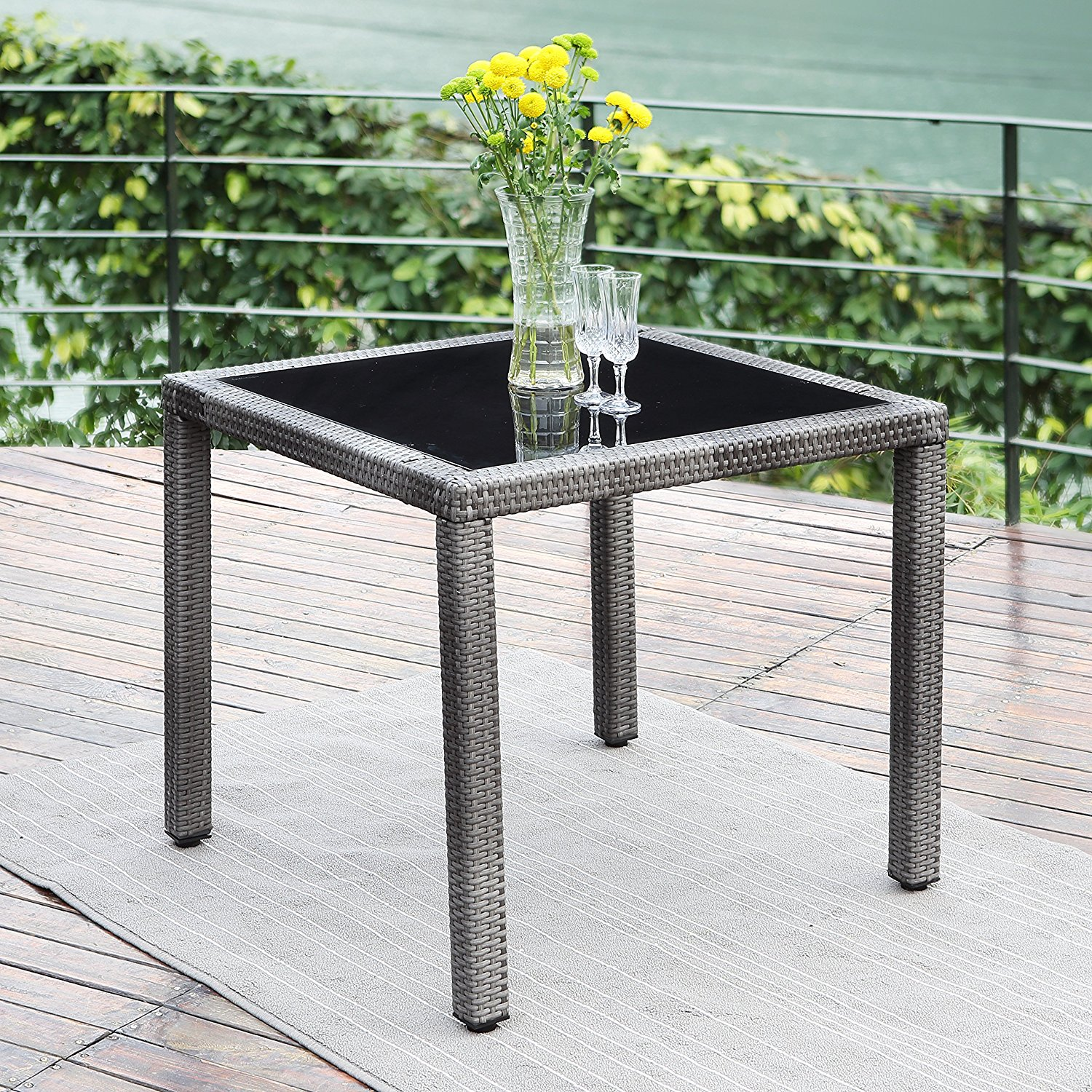 Dazzling Versatile Outdoor Wisteria Lane Wicker Rattan Patio Table Wisteria Lane Wicker Rattan Patio Table Review Patio Patio Table Cover Patio Table Bench houzz 01 Patio Dining Table