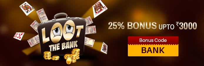 Junglee Rummy Bonus Offer | Loot the Bank Promotion
