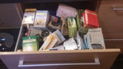 Our very overstocked Tea Drawer