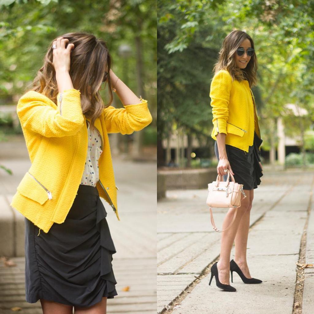 Feliz Viernes!!! Nuevo look en el blog con chaqueta amarillahellip