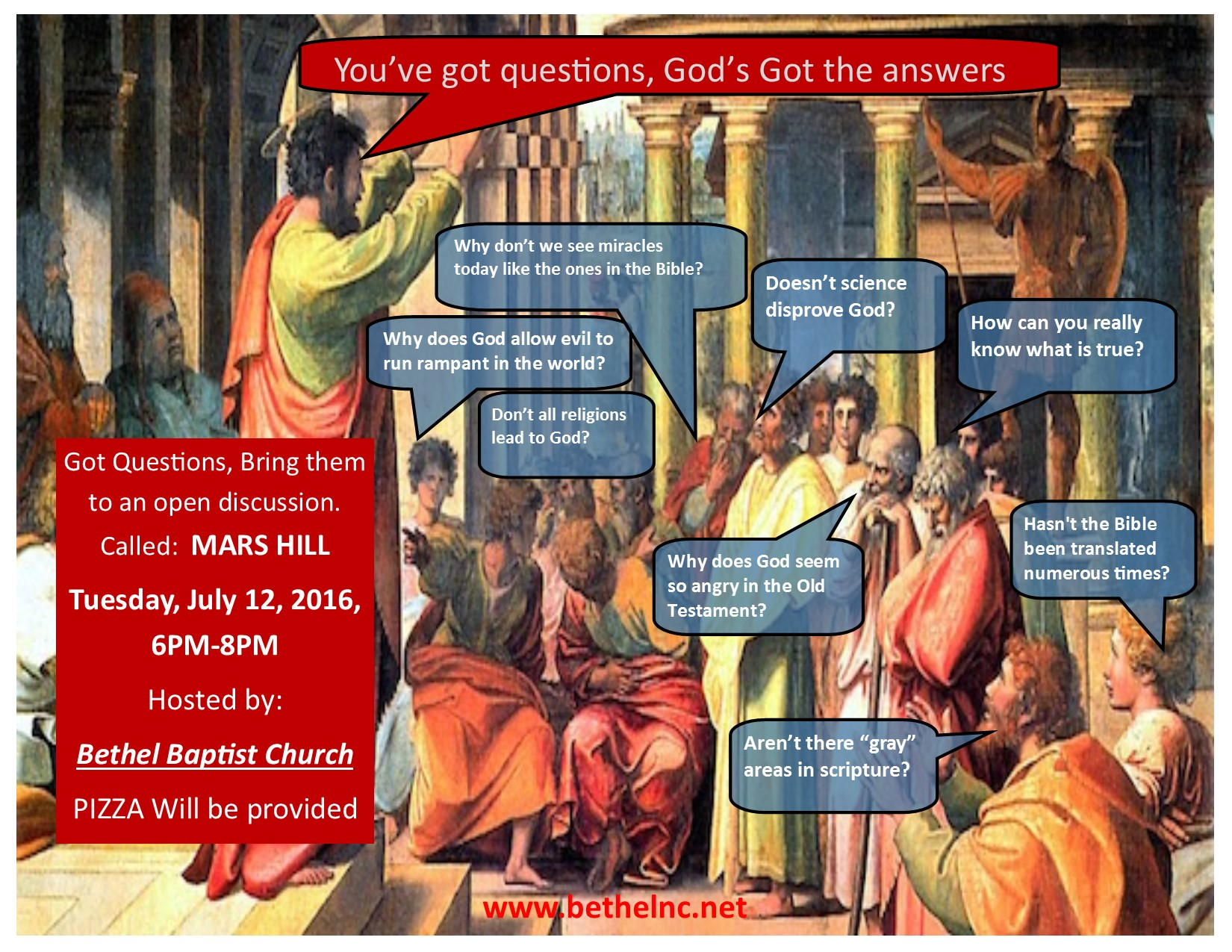Mars Hill Forum Tuesday July 12th!