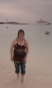 me on beach in the Bahamas