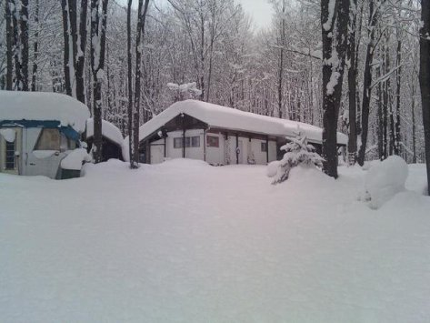 Father-in-law's place under snow