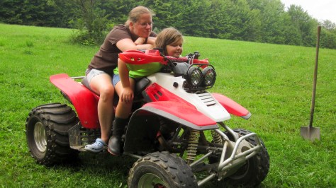 girls on the atv