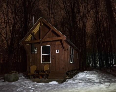 Guest cabin under stars
