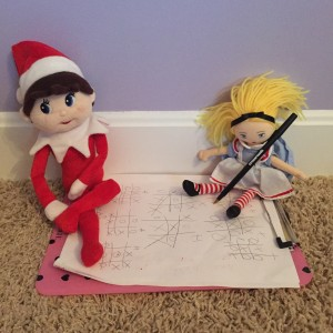Silverbells playing Tic Tac Toe with Alice in Wonderland