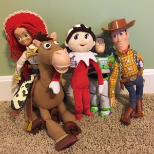 Silverbells hanging out with the cast of Toy Story