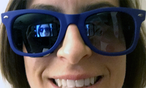 image of betsy wearing sunglasses