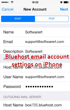 bluehost email accounts