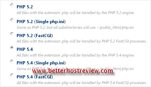 bluehost update php version