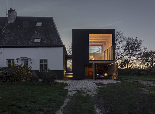Architect Antonin Ziegler- blackened timber reading room