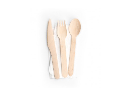EcoWare Disposable Wooden Utensil Set