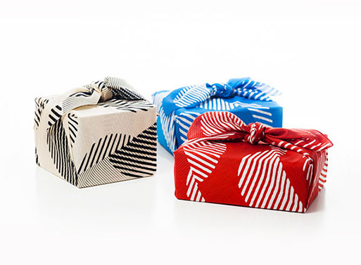Dots Furoshiki wrapping
