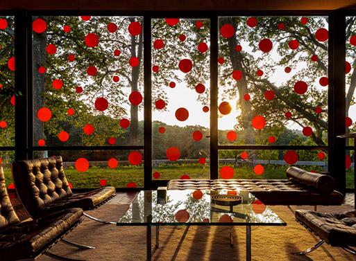 Yayoi Kusama embellishes Philip Johnson's Glass House