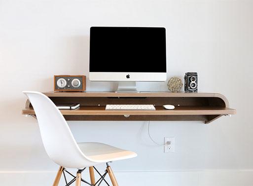 Minimal Float Wall Desk Orange22