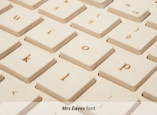 Orée Wireless Wood Keyboard font