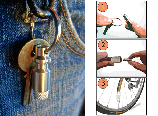 The Bike Pump Keychain