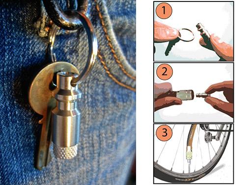 The Bike Pump Keychain