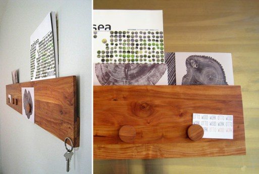 Apple Magnetic Wood Mail Organizer