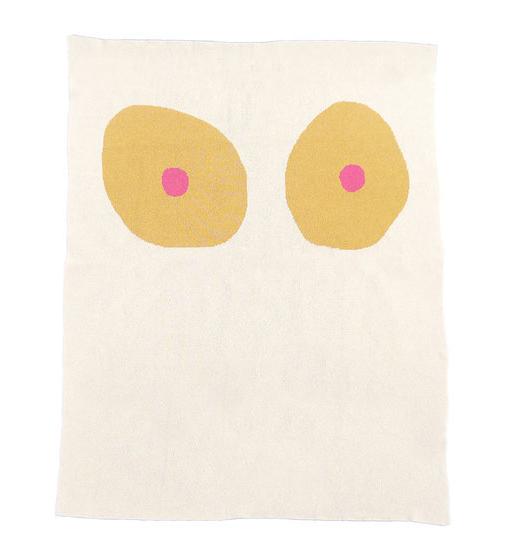 Tonal Boob Knit Blanket