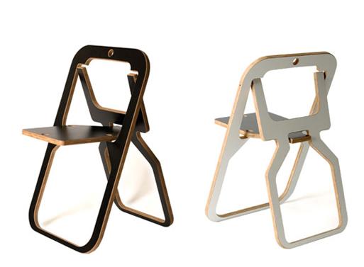 Desile Folding Chair Black white
