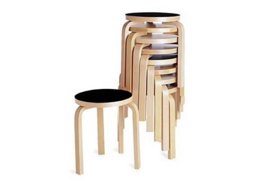 Aalto Stacking Three-Legged Stool 60