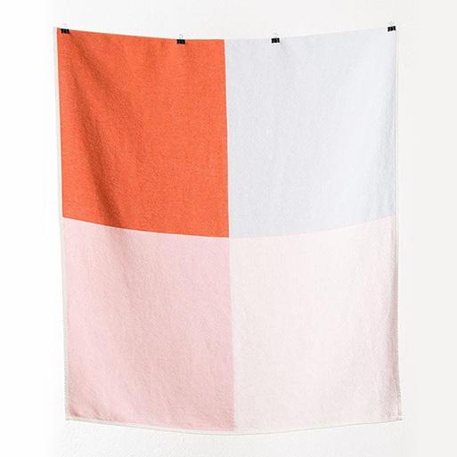 Michelle Rondelli Flagged Cotton Blanket