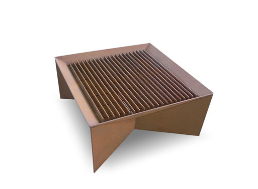 Geometric Firepit grate top