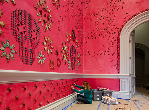 Jennifer Angus wallpapers Renwick Gallery