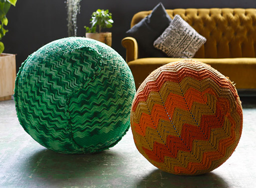 Knitted Yoga Ball Furnishings Better Living Through