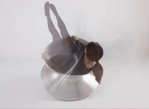 metal spun chair