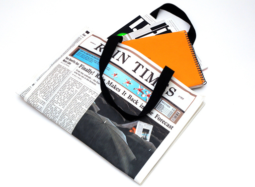 Newspaper for Rain Bag 1