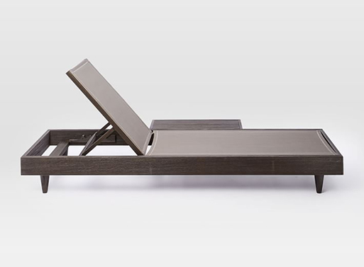 Portside Low Textilene Chaise Lounger