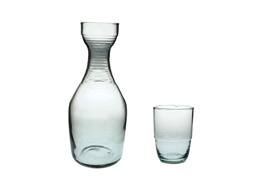 Recycled Glass Large Carafe & Tumbler