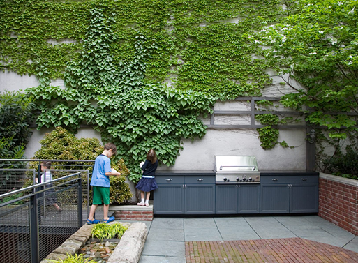 Jane Street Townhouse: Back Garden