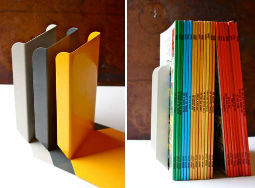 Steel Bookends