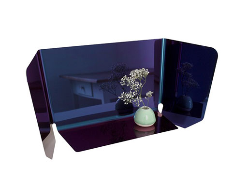 Table Mirror Dorian Blue