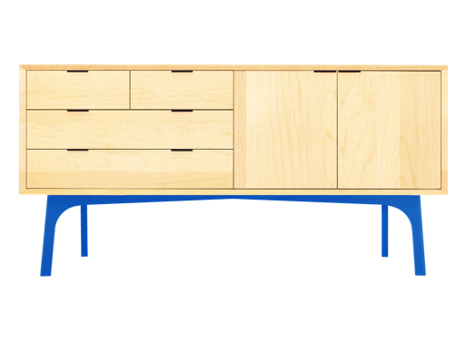 wfour design Sideboard blue legs