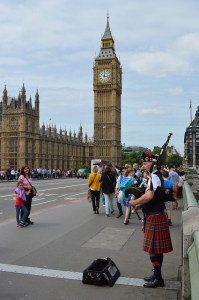 Bagpipes at Westminster