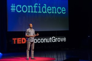 Dre speaks at TEDxCoconut Grove on Confidence. Source: Dre Baldwin