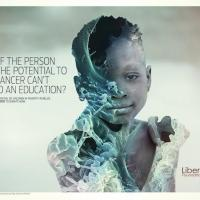 Liberty Foundation ads - help unlock the potential of children in poverty