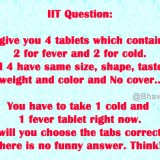 IIT Question: How Will You Choose the Correct Tablets