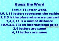 Guess the Word residence