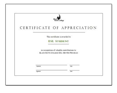 mentee certificate