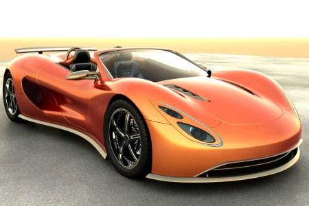 amazing orange car 1920x1200
